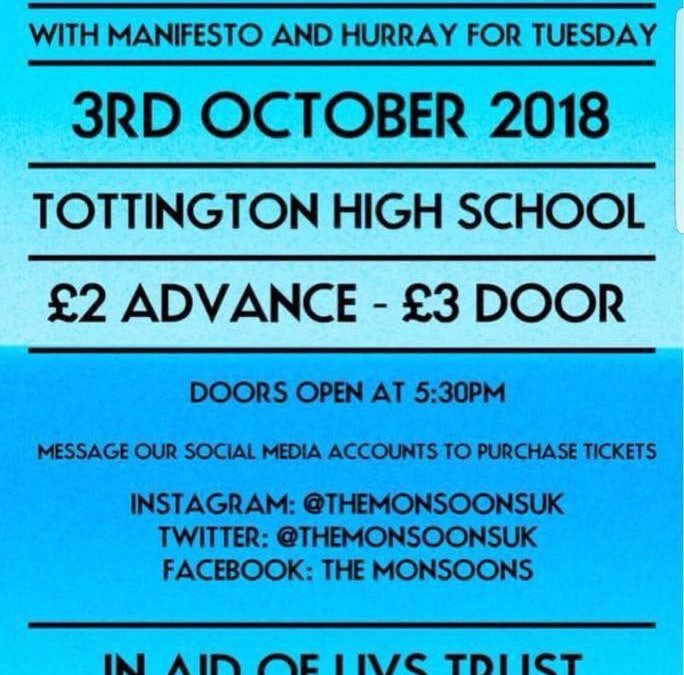 Charity Gig at Tottington High School